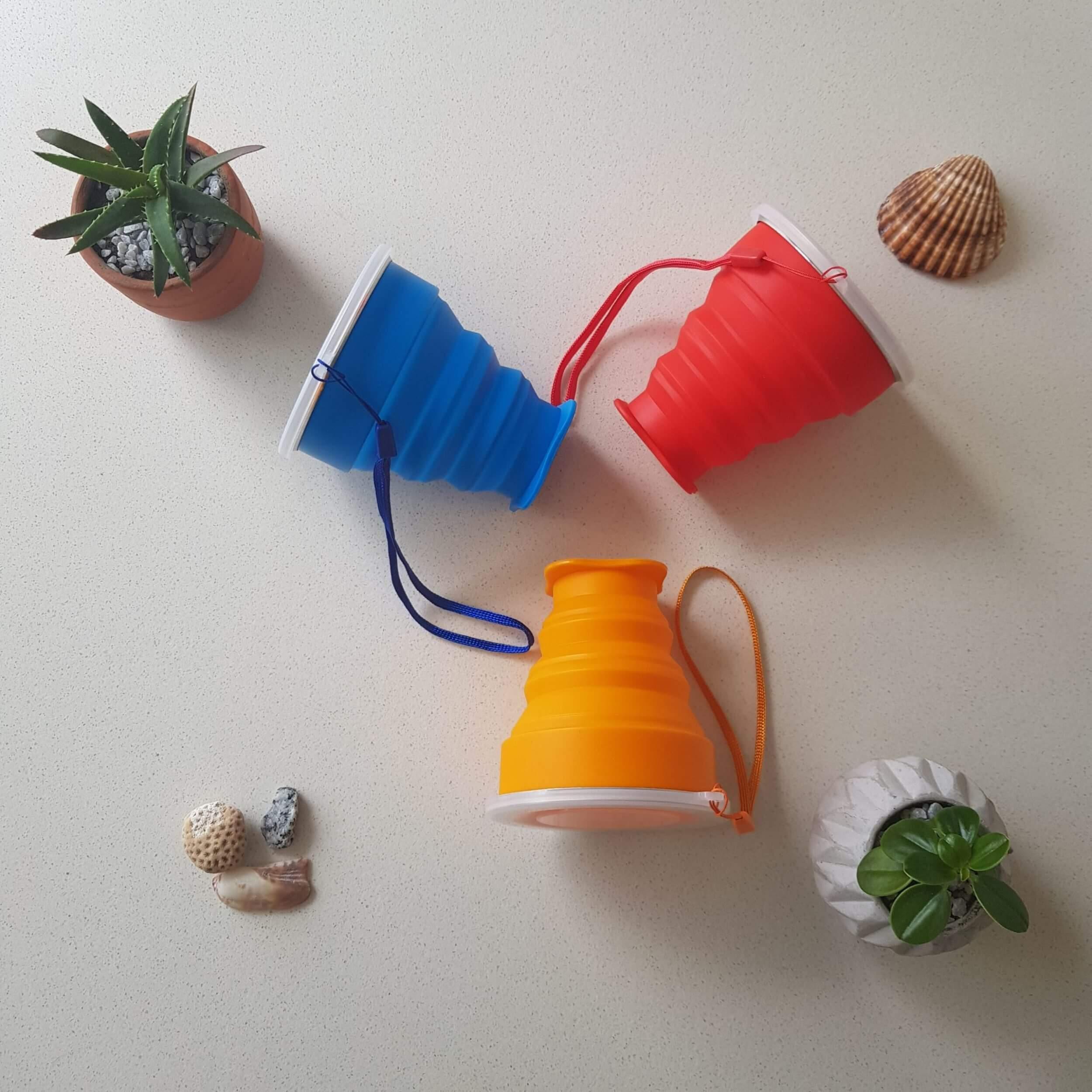 Vasos plegables de silicona